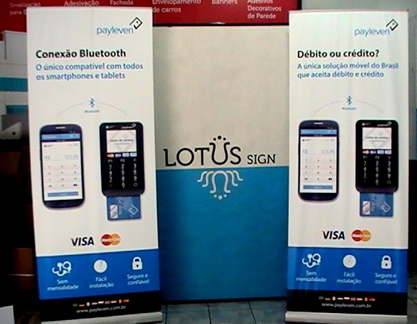 Suporte para Porta Banner Roll Up - Pay Leven